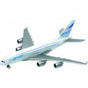 Metalen speelgoed vliegtuigje 14 cm