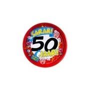 Merkloos Feest metalen dienblad 50 jaar Sarah 30 cm