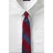 ランズエンド LANDS' END メンズ・シルク・メランジ・ストライプ・タイ/ネクタイ(レッドメランジストライプ)
