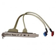 2x USB 2.0 en 1x Firewire bracket