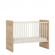 4KIDS Cot in light oak and white high gloss