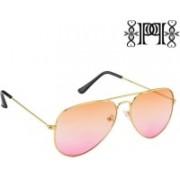 Poloport Aviator Sunglasses(Orange, Pink)