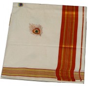 kerala kasavu saree with Vennakannan Design