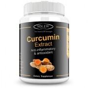 Sinew Nutrition Organic Turmeric Curcumin Extract 90 Veg Capsules (1400 mg / serve)
