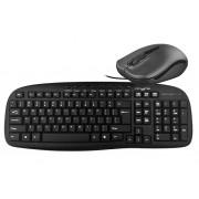 Kit tastatura + mouse Myria MY8517 USB cu fir negru