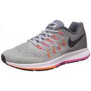 Nike Men's Air Zoom Pegasus 33 Grey Running Shoes - 10 UK/India (45 EU)(11 US)(831352-004)