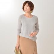 ワッフルニットプルオーバー【QVC】40代・50代レディースファッション