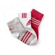 adidas Lot 3 paires de Chaussettes Bébé Fille Rose - T14 - 23-26 OL - Foot Lyon