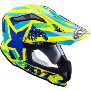 KYT Strike Eagle Patriot Motocross Helmet Black Yellow L