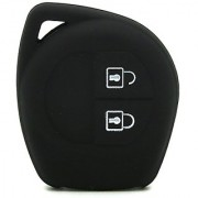 New Black color Silicone shock proof Key Case for Suzuki 2 button car key cover