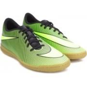 Nike BRAVATAX II IC Football Shoes(Black, Green)
