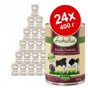 Икономична опаковка Lukullus Adult 24 x 400 г - говеждо и пуешко (без зърно)