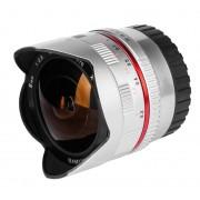 samyang 8mm f/2.8 umc fish-eye - fuji x - argento - 2 anni di garanzia
