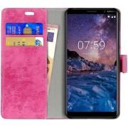Nokia 7 Plus Bookcase Vintage Hoesje Roze