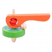 Segolike Classic Kids Wooden Spinning Top spin Gyro Peg-Top W/ Cord Handle Children Play Toys Gift