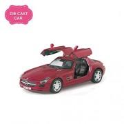 Skywalk Mercedes Benz SLS AMG,Pull Back Action, Toy Car Model for Kids Multi Color