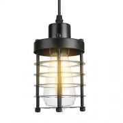 xuuyuu Lámpara Colgante, lámpara de Techo de Metal Retro Industrial Lámpara Colgante de Jaula Vintage con Base E27 / E26 para Restaurante Bar Pasillo Sala de Estar Comedor Accesorio de lámpara