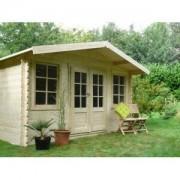Abri de jardin en bois DOLE 11.5 m2 Ep.28 mm