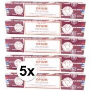 Hem Wierook 5 pakjes wierook geurstokjes Nag Champa Opium