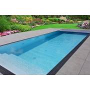 Swimmingpool-Komplettset Premium ONE® mit Überlauf 4,00 x 10,00m und elektrischem Rolladen / Poolabdeckung