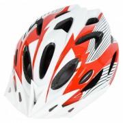 18 Vents PC + EPS casco de bicicleta con visera para el ciclismo rojo + blanco