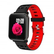 P11 1.3 inch Color Screen Smart Bracelet Fitness Tracker Heart Rate Blood Pressure Monitor - Red
