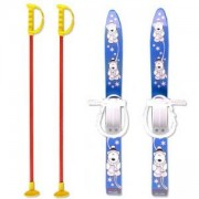 Комплект детски ски 70см. и щеки, MASTER, MASkarC-02-blue