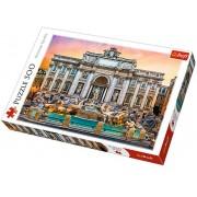 Puzzle Fontanna Di Trevi - Roma, 500 piese