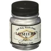 Jacquard Lumiere Metallic Acrylic Paint 2.25 Ounces-Metallic Silver