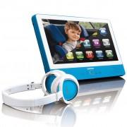 Lenco Dotykový tablet s DVD přehrávačem TDV-900, modrá, 9 palců