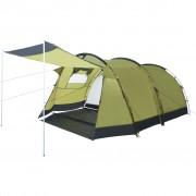 vidaXL Тунелна палатка за къмпинг, 4-местна, зелена