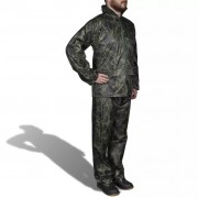 vidaXL Men's Camo Print 2-Piece Rain Suit with Hood XXL