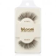 Bloom Natural изкуствени мигли от естествен косъм No. 747L (Black) 1 см