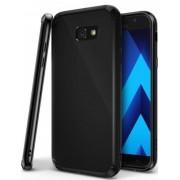 Protectie spate Ringke FUSION SHADOW BLACK pentru Samsung Galaxy A7 2017 + BONUS folie protectie display Ringke (Negru)
