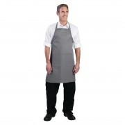Chef Works halterschort grijs - Universele maat