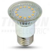 LED-es fényforrás, ( 15 LEDES spot ), 4W-os teljesítményű, E27 foglalattal, 3000K-es színhőmérsékletü, SMD LED ( 300 lm ) Tracon ( SMD-E27-15-WW )
