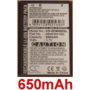 Batterie 650mah Pour Samsung Sgh-F400, Gt-M7500, Gt-M7500 Emporio Armani, Gt-S5600, Gt-S7220 Lucido, Sgh-P260 - P/N: Ab463651be