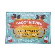Kraskaart - Jullie worden Opa en Oma! - Balloons & cupcakes Groot nieuws!