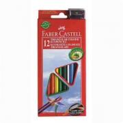 Creioane Colorate Triunghiulare + Ascutitoare Eco Faber-Castell 36 culori