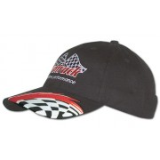 Headwear Professional 6 Panel Brushed Cotton With Swoosh And Check Embroidery Cap 4183