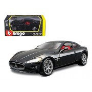 2008 Maserati Gran Turismo, Black - Bburago 22107 - 1/24 scale Diecast Model Toy Car