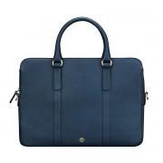 Maxwell-Scott Damen Leder Laptop Businesstasche in Dunkelblau - Sorrento - Aktentasche, Dokumententasche, Dokumentenmappe, Laptoptasche