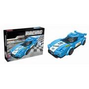 Sanyal Awesome Blue Racing Car Building Blocks Play Set for Kids - 156 Pcs Block Set (Multicolour)