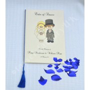 A5 Wedding Tassels for use in Menu Cards, Wedding Invitations, Royal Blue Colour