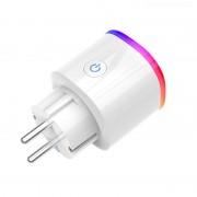 Priza inteligenta Wi-Fi, RGB, Monitorizare consum