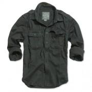 Koszula z pagonami RAW Vintage czarna - Surplus 06-3591-63