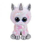 Unicorn Alb Cu Paiete - plus Ty, 24 CM, Boos