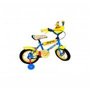 Bicicleta Infantil Rodado 12 Ruedas Inflables C/rueditas-Azul