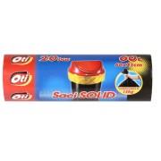 Saci menaj, 60L, 20 buc/rola, galben, OTI Solid