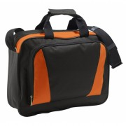 Documenten tas oranje/zwart 40 cm